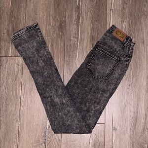 Denim - Black acid wash jeans
